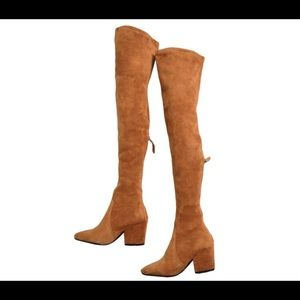 Goodnight Macaroon Shoes - Over the knee suede boots