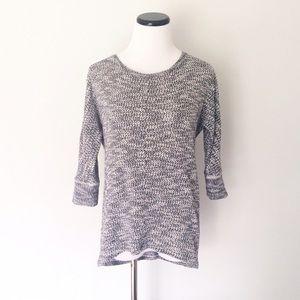 Ann Taylor LOFT Blue marled dolman Sweater