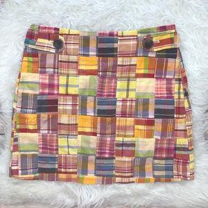J. Crew Dresses & Skirts - J. Crew Madras Mini Skirt