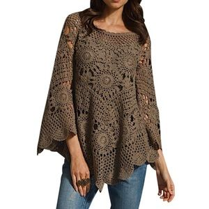 Eternal Sunshine Creations Tops - ETERNAL SUNSHINE CREATIONS Crochet Tunic Swing Top