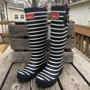Joules Shoes - 🆕List! Joules French Navy Stripe Rainboots! NEW!