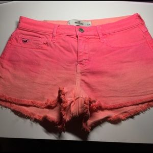 Hollister Pants - Right neon pink coral shorts high rise hollister