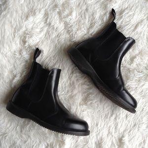 DR. MARTENS black flora Chelsea ankle boots