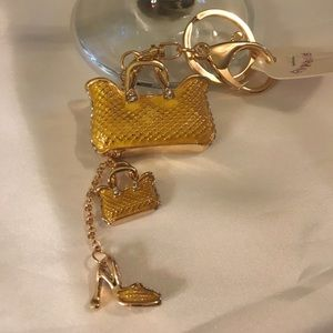 Bag Charm/Keychain Yellow bags with a shoe