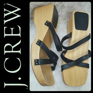 J. Crew Shoes - J. Crew Italy Wooden Leather Sandals
