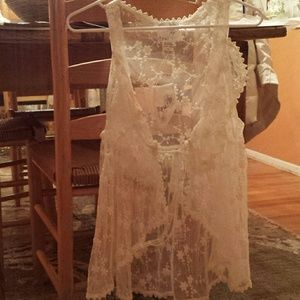 Ryu Tops - Ivory Lace Top like Free People