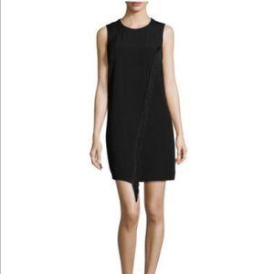 Rebecca Taylor Dresses & Skirts - Rebecca Taylor Sleeveless Shift Dress Fringe Trim