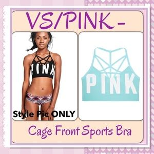 PINK Victoria's Secret Other - 🆕VS/PINK- Cage Front Sports Bra, Jet Stream Blue
