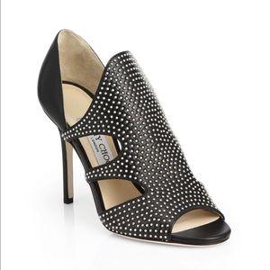Jimmy Choo Shoes - Tarrine Studded Cutout Sandals