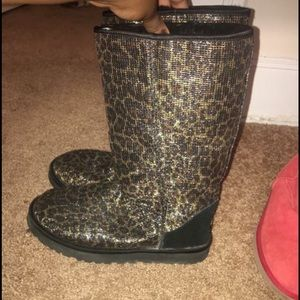 UGG Shoes - Cheetah print uggs. Big kids size 7. Barely worn!