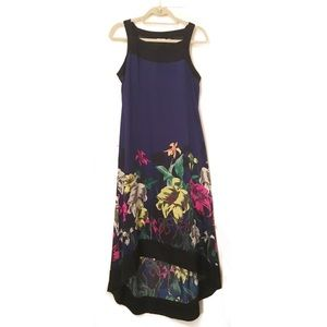 DKNY Dresses & Skirts - DKNY blue maxi dress with floral print on bottom