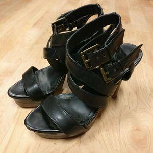 Shoes - BCBG Paris: Black, Strappy Summer Heels!