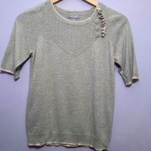 Delias Sweaters - Gray short sleeve sweater from Delias