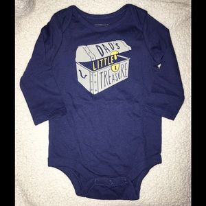 BabyGap Bodysuit Baby Boy GAP Blue Long Sleeve NWT