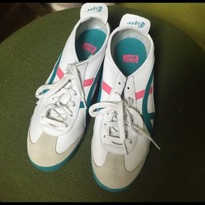 Onitsuka Tiger by Asics Shoes - Onitsuka tiger pink, teal, white sneakers