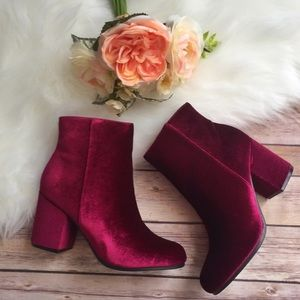 Gypsy 05 Shoes - 🔥Gyspy Los Angeles RED velvet ankle boots 👢☄️🔥