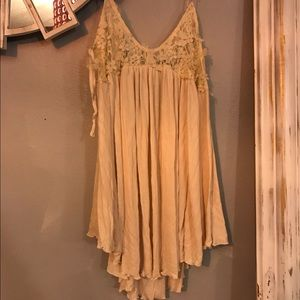 "Free People Tops - FREE PEOPLE ""NEUTRAL"" TOP GORGEOUS STRING STRAPS"