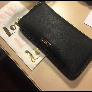 Kate Spade black clutch wallet