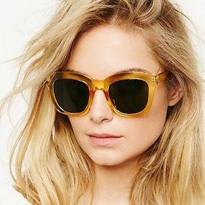 Free People Kensington yellow sunglasses