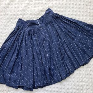 Vintage Blue and White Polkadot Skirt