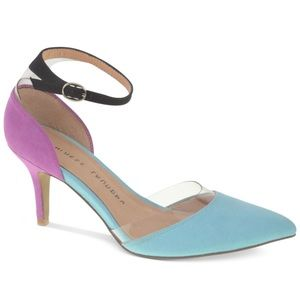 Chinese Laundry Heels Purple and Light Blue Size 8