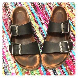 Birkenstock Shoes - Matte black Authentic Birkenstocks