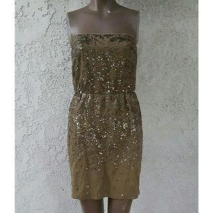Gorgeous Sequins Bronze Dress NWT