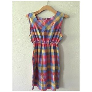 Vintage plaid Summer dress 