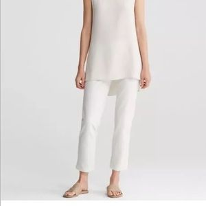 Eileen Fisher Pants - Eileen Fisher Cropped White Pant