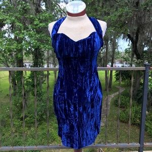 Vintage Dresses & Skirts - RARE 1980s Betsey Johnson PUNK LABEL Velvet Dress