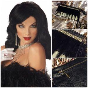 Handbags - Custom Unique purse w. feathers & rhinestones