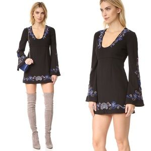 Free People Folk Mink Black Dress