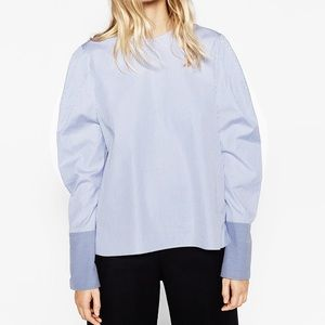 Zara stripped blouse with full sleeves