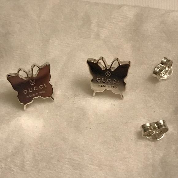 33c9b64b5ff Gucci Jewelry - Gucci Sterling silver butterfly earrings