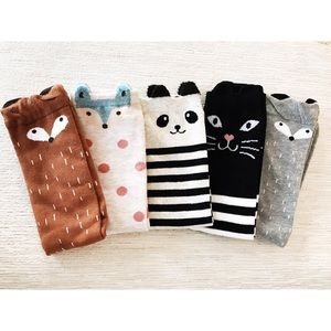Other - bundle of 5 girl's animal socks (ages 5-12)