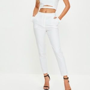 Missguided + Pants - White misguided trousers