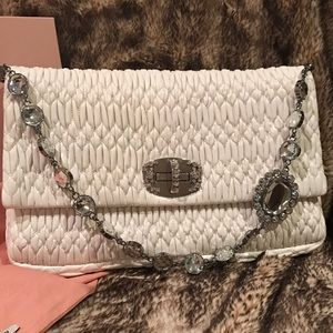 Miu Miu Crystal & lamb leather bag