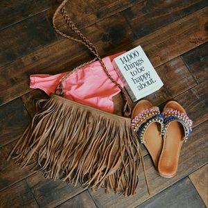 Handbags - Brown Tassel Purse