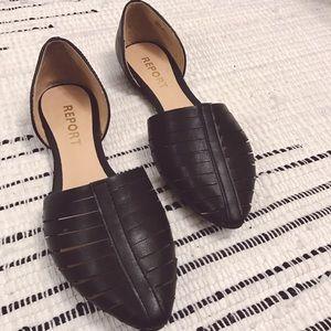 Report Signature Shoes - Report Signature Black Silverton D'Orsay Flats