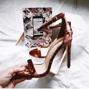 Rust Velvet Heels
