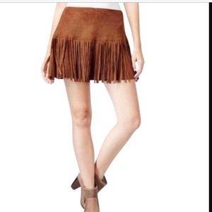 American Rag Dresses & Skirts - American Rag Faux Suede Fringe Mini Skirt NWT
