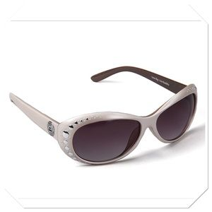 Big Buddha Studded Oval Sunglasses