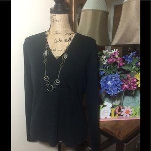 Ann Taylor Tops - Ann Taylor Black V Neck Shirt