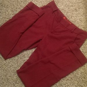 Anthropologie Pants - Anthropology red ankle slacks like new