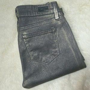 Paige Jeans Denim - Paige Verdugo Ultra Skinny Silver Jeans Size 25