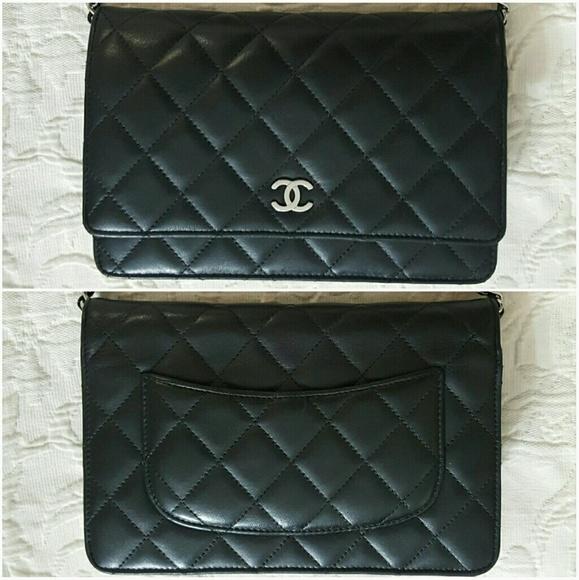 d26b921dfa2 ... chanel bags woc wallet on chain lambskin black sold poshmark ...