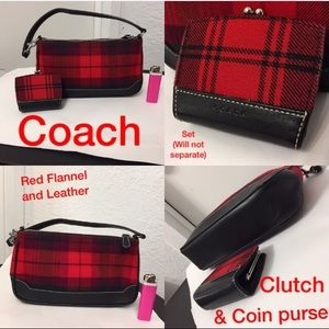 Coach purse and coin purse set.