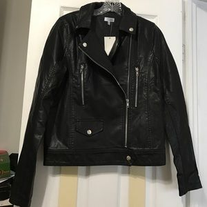 Reformation Jackets & Blazers - Faux Black Leather Jacket!