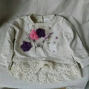 Koala Kids Other - Baby sweatshirt with bottom lace detail