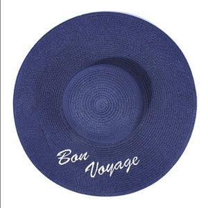 "Hannah Beury Accessories - ""Bon Voyage"" Floppy Beach Hat"
